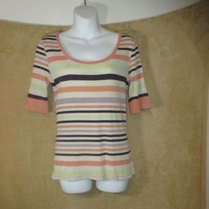 Old Navy vintage shirt woman size L striped